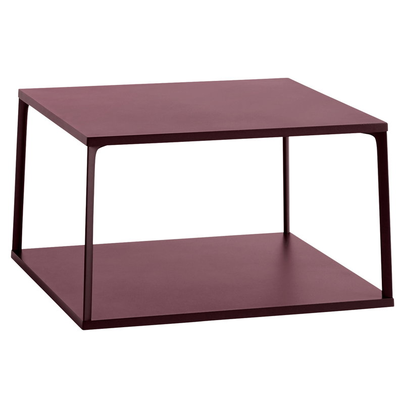 Hay Eiffel coffee table, square, 65 x 65 cm, dark brick