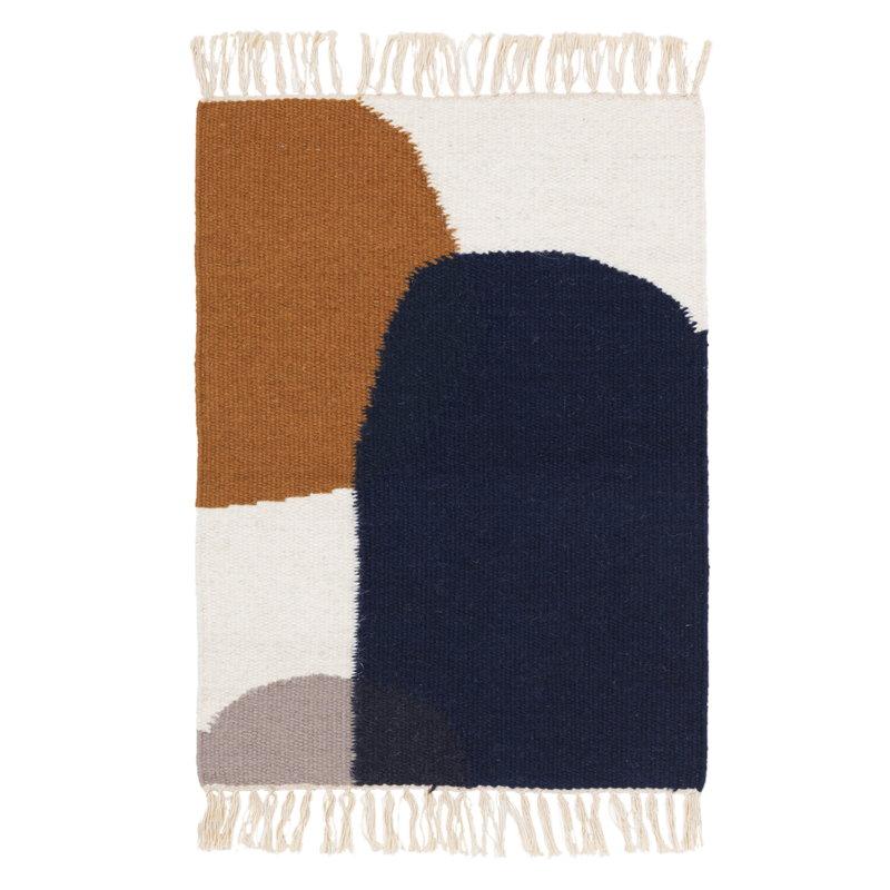 Ferm Living Kelim mat, Merge 50 x 70 cm