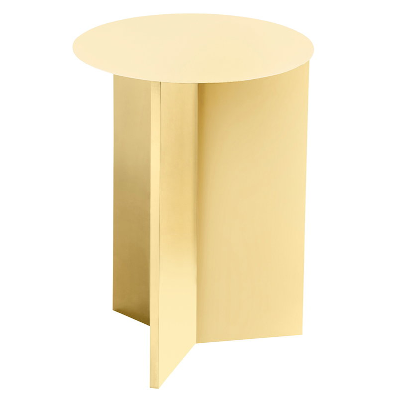 Hay Slit table, high, light yellow