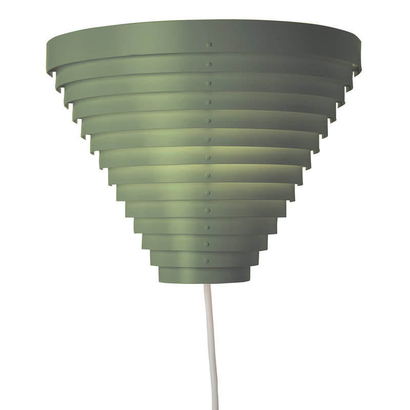 Artek Aalto wall lamp A910, St. George Edition, olive green