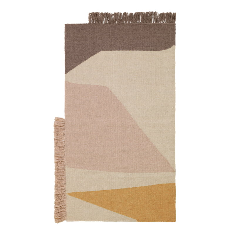 Ferm Living Kelim mat, Earth, 50 x 70 cm
