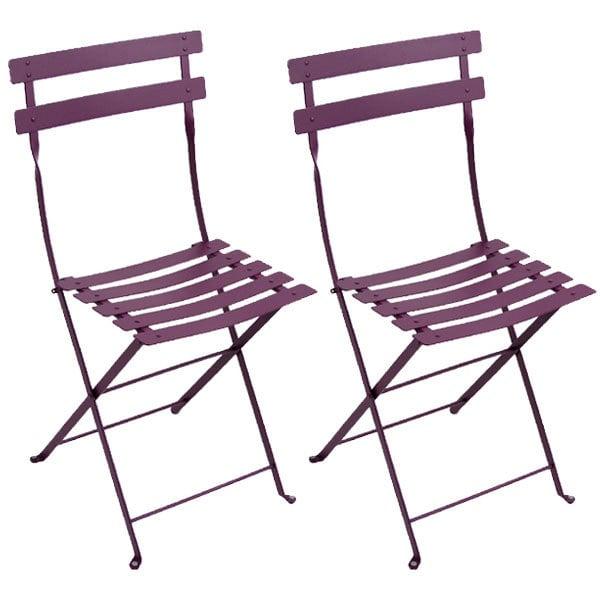 Fermob Bistro Metal tuoli, 2 kpl, aubergine