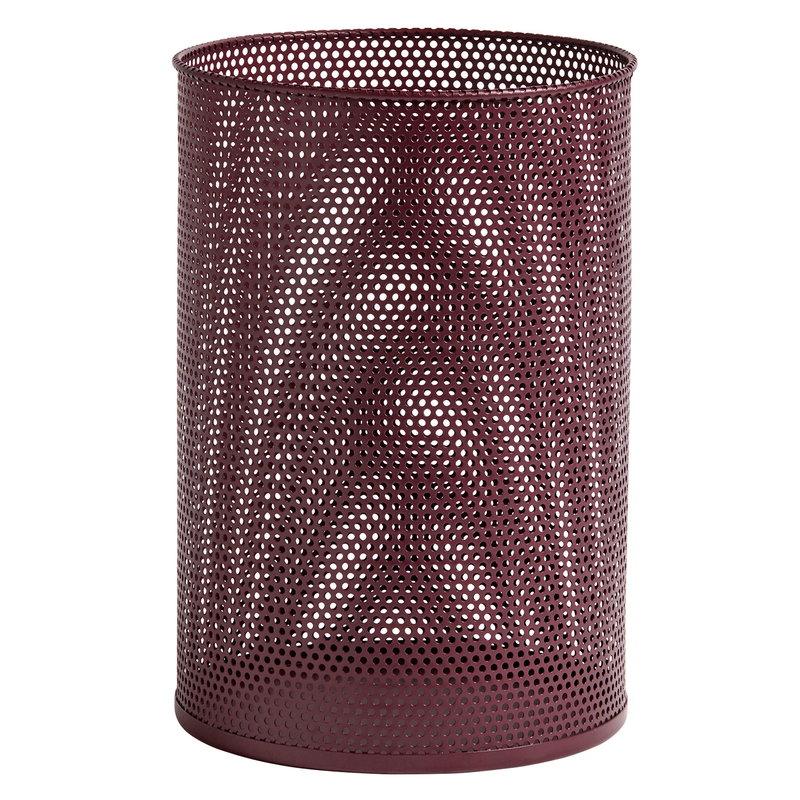 Hay Perforated Bin roskakori, L, burgundinpunainen