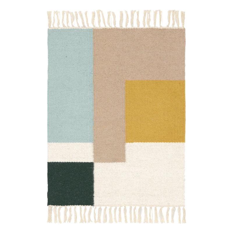 Ferm Living Kelim kynnysmatto, Squares, 50 x 70 cm