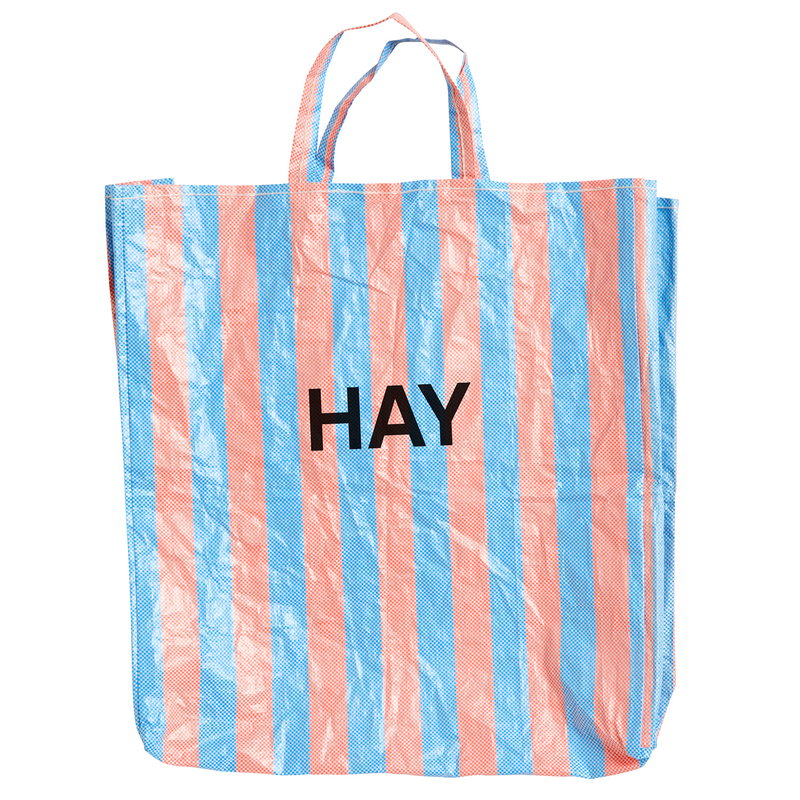 Hay Candy Stripe shopper, XL, blue - orange