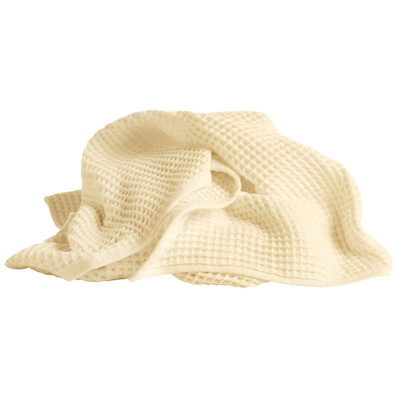 Hay Giant Waffle bath towel, soft yellow