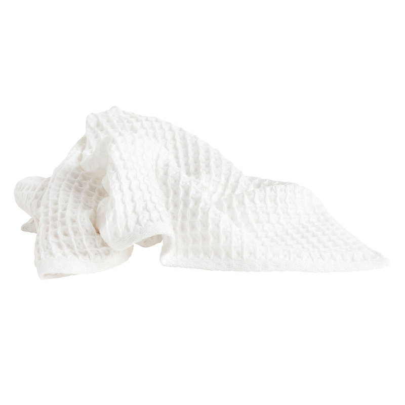 Hay Giant Waffle guest towel, white