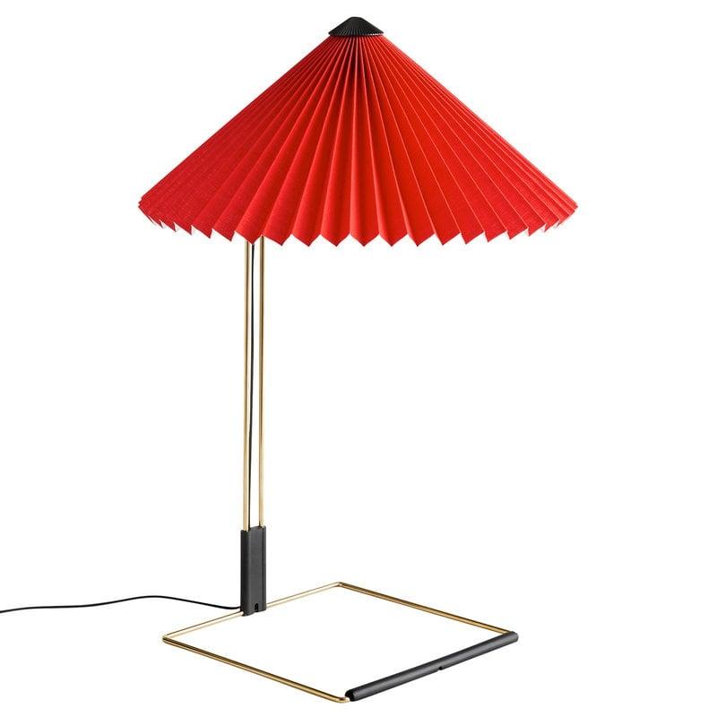 Hay Lampada da tavolo Matin, grande, rosso vivo