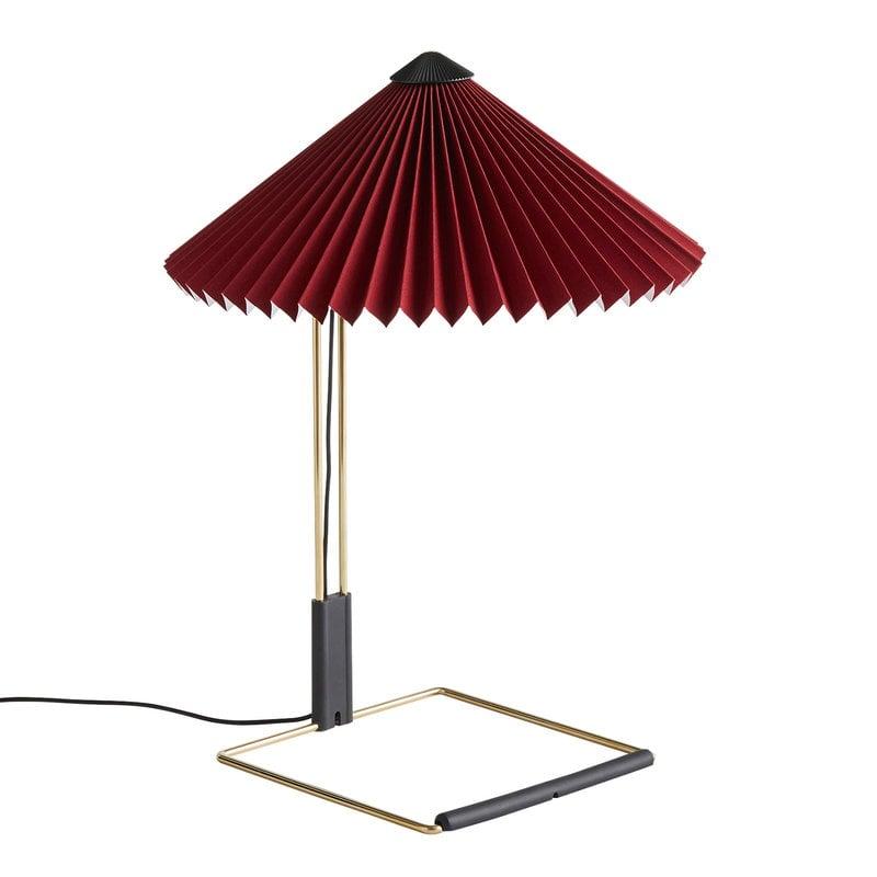 Hay Lampada da tavolo Matin, piccola, rosso scuro