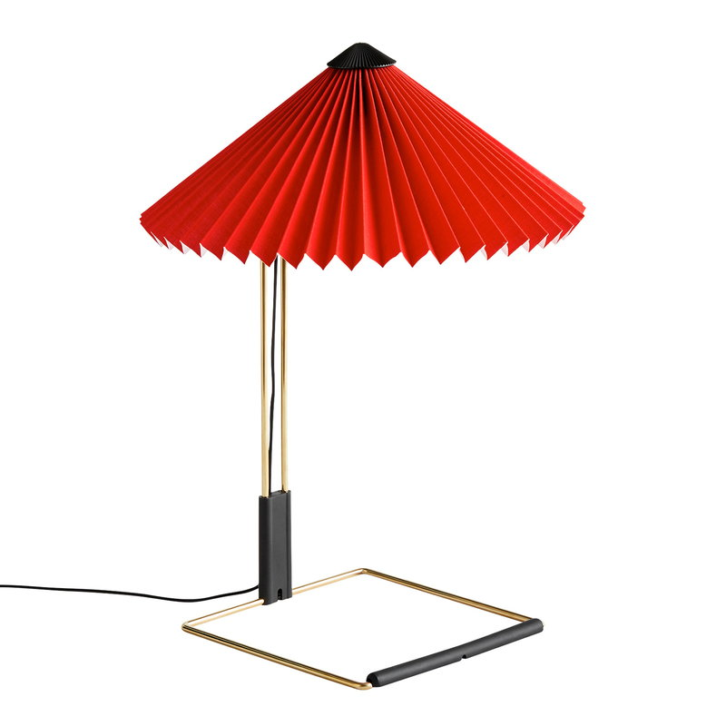 Hay Matin table lamp, small, bright red