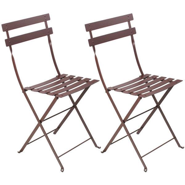 Fermob Bistro Metal tuoli, 2 kpl, russet