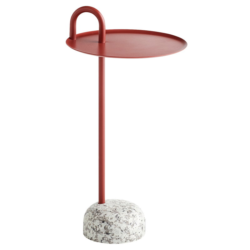 Hay Bowler side table, tile red