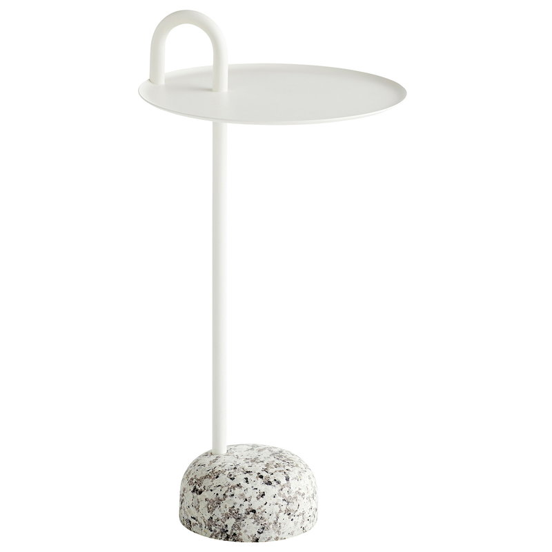 Hay Bowler side table, cream white