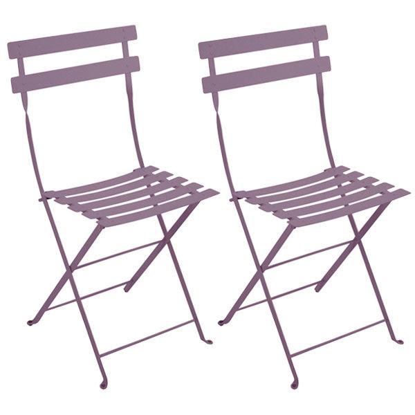 Fermob Bistro Metal chair, 2 pcs, plum