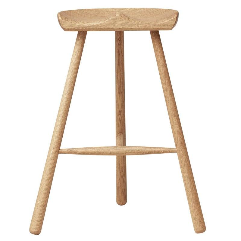Form & Refine Shoemaker Chair No. 68 bar stool, white oiled oak