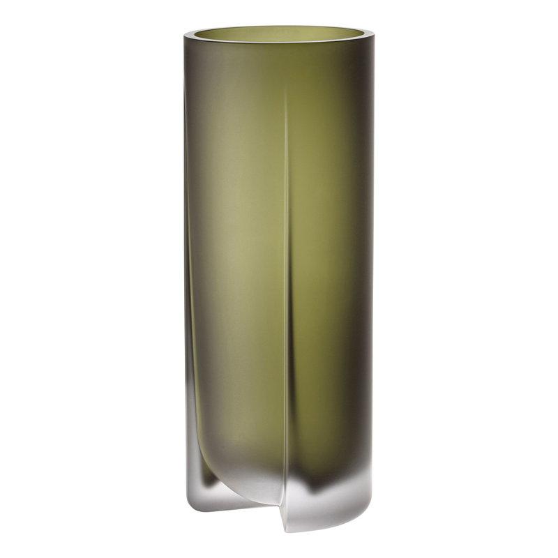 Iittala Kuru vase 255 mm, frosted moss green