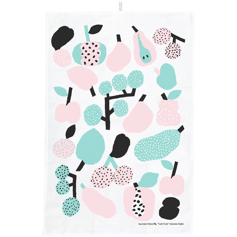 Kauniste Tutti Frutti tea towel, light green