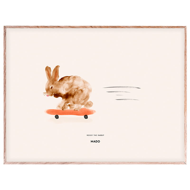 MADO Poster Rocky the Rabbit 40 x 30 cm