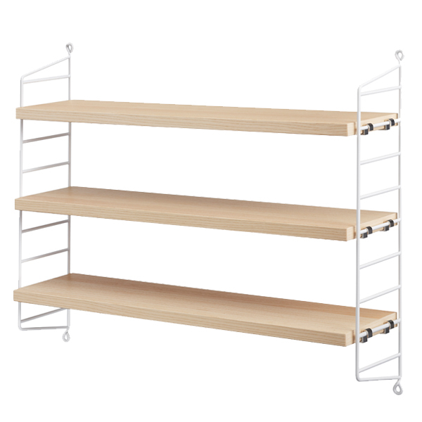 String Furniture String Pocket shelf, ash-white