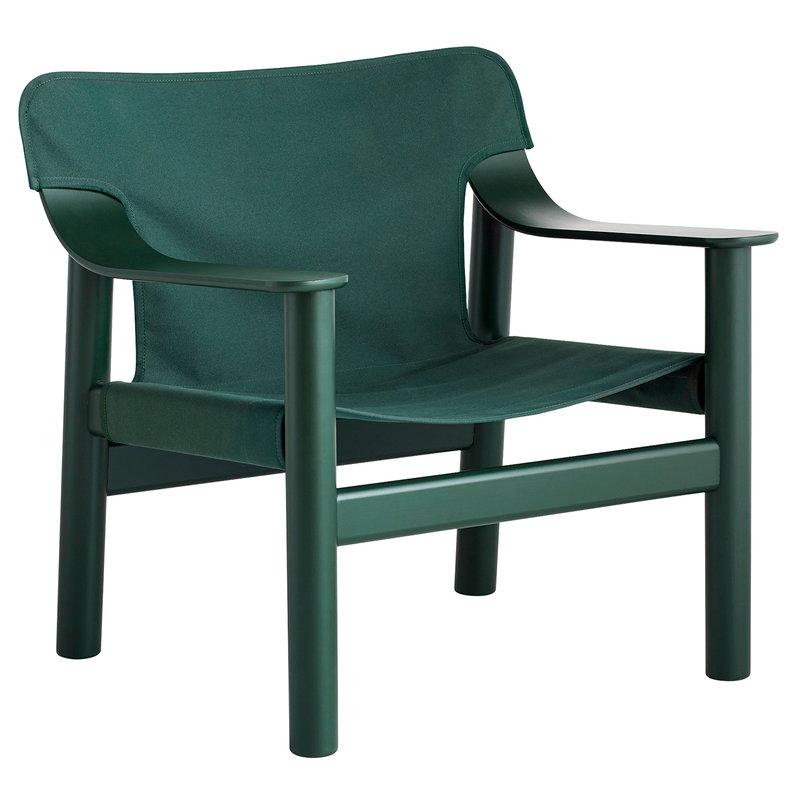 Hay Bernard lounge chair, green painted beech - green canvas