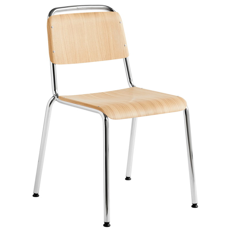 Hay Halftime chair, chrome - matt lacquered oak