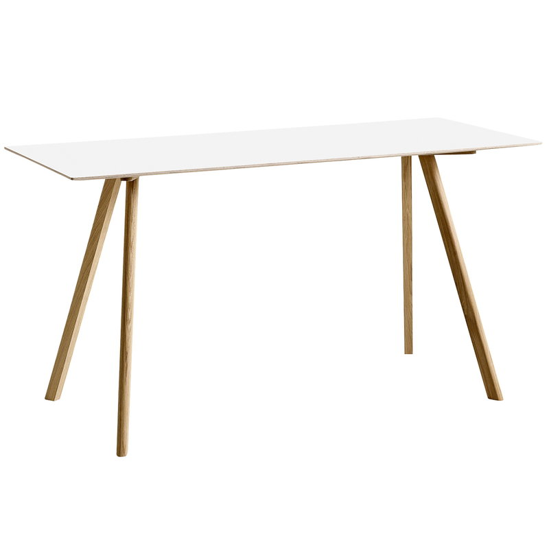 Hay CPH30 table 200x80 cm, high, lacquered oak - white laminate