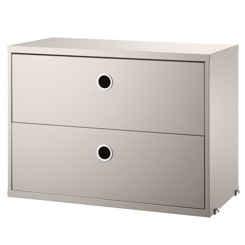 String String chest with 2 drawers, 58 x 30 cm, beige