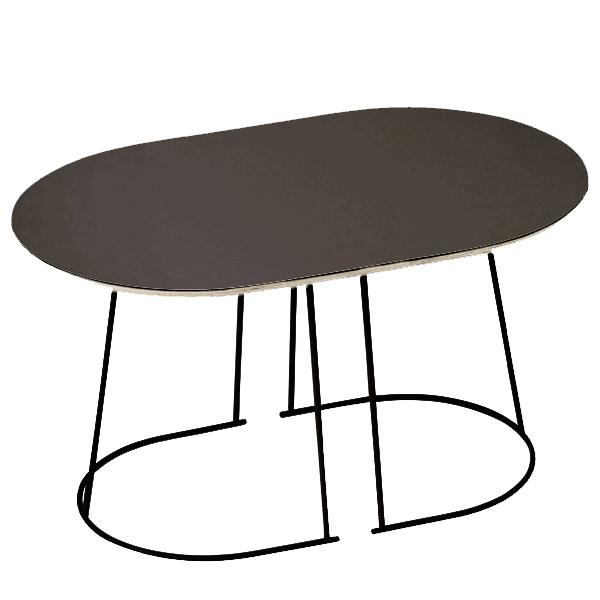 Muuto airy coffee table small black finnish design shop for Small black coffee table