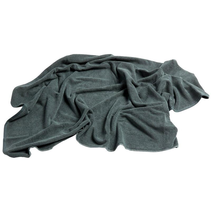 Hay Frotte towel 150 x 100 cm, dark green