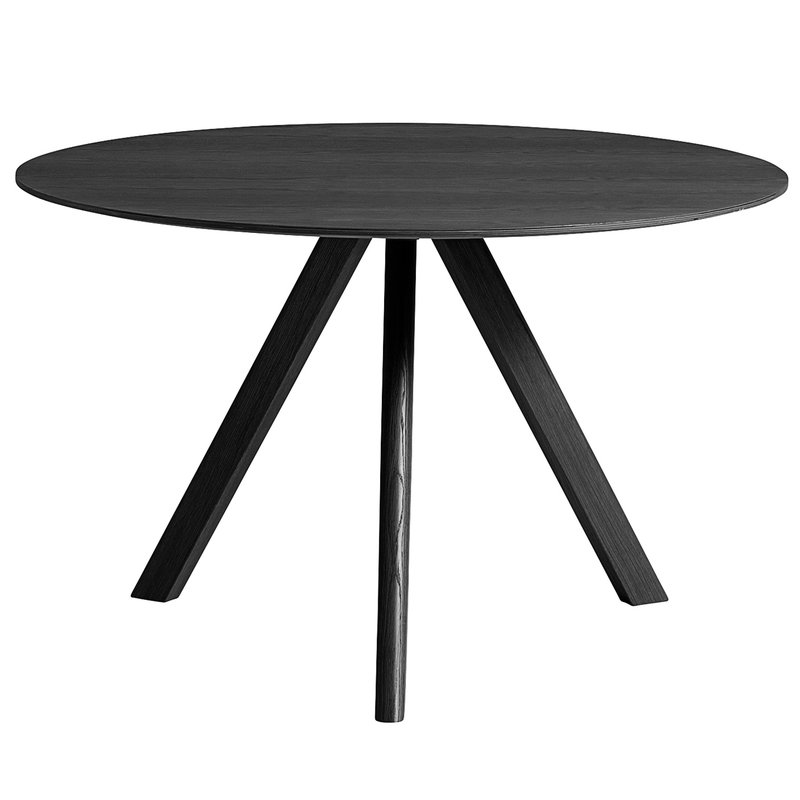 Hay CPH20 round table 120 cm, black stained oak