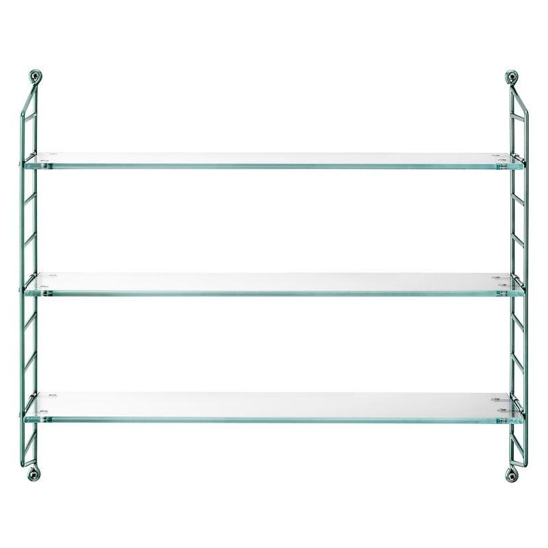 String Furniture String Pocket shelf, glass
