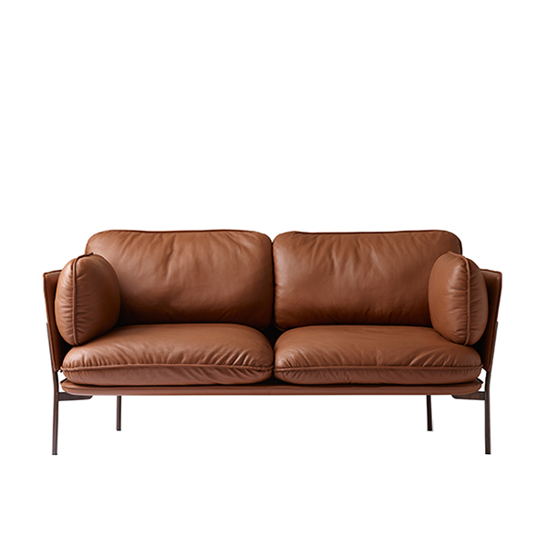 Sofa Leather Workshop: &Tradition Cloud Two Seater Sofa, Elmo Brown Leather