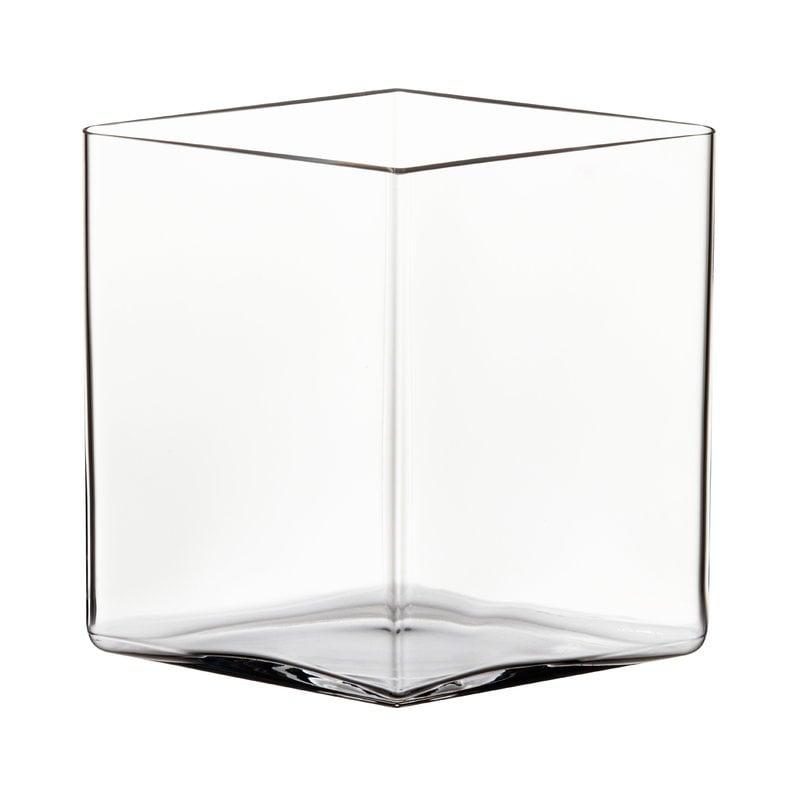 Iittala Ruutu maljakko, 205 x 180 mm, kirkas