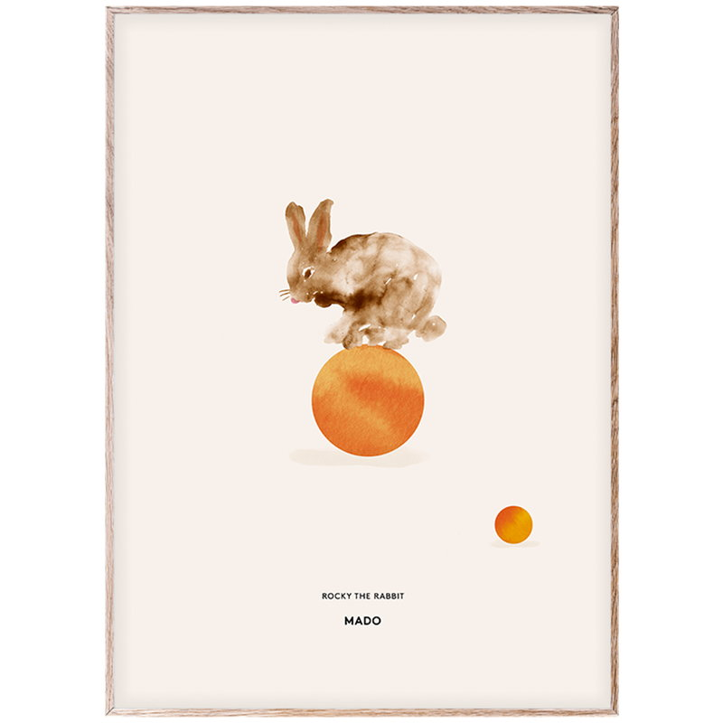 MADO Rocky the Rabbit poster 50 x 70 cm