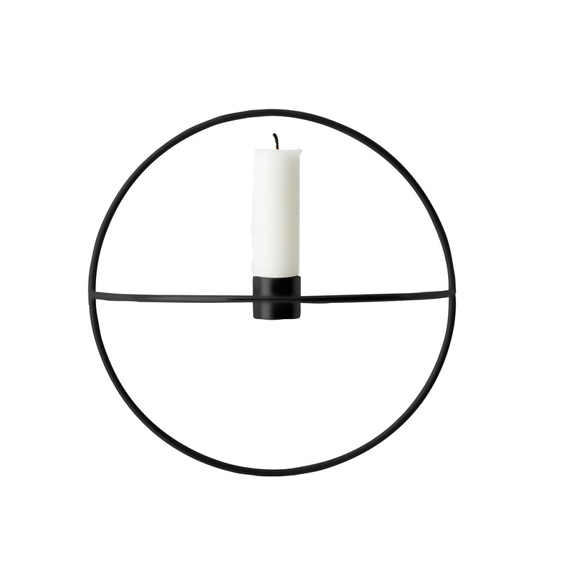 Menu POV Circle candleholder, S, black
