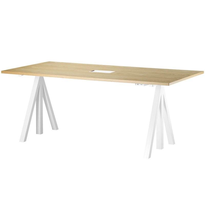 String Furniture String Works height adjustable work desk, 180 cm, oak