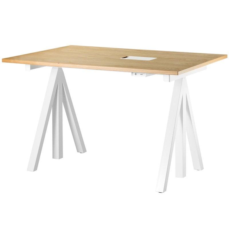 String Furniture String Works korkeussäädettävä pöytä 120 cm, tammi
