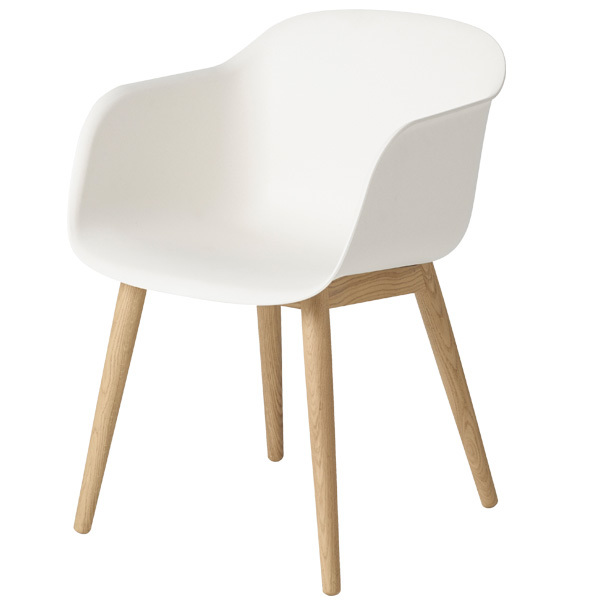 muuto fiber armchair wood base white oak finnish On chaise design petit prix