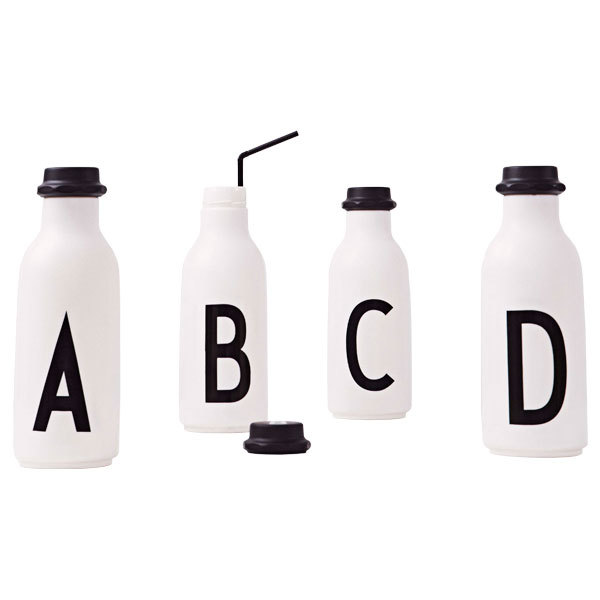 Design Letters Arne Jacobsen drinking bottle A-Z