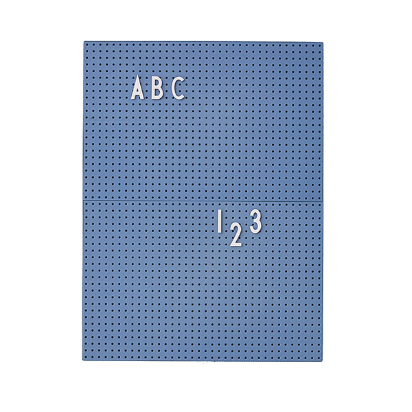 Design Letters Message board A4, blue