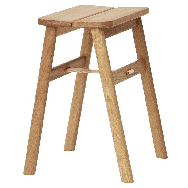 Form & Refine Angle stool, white oiled oak