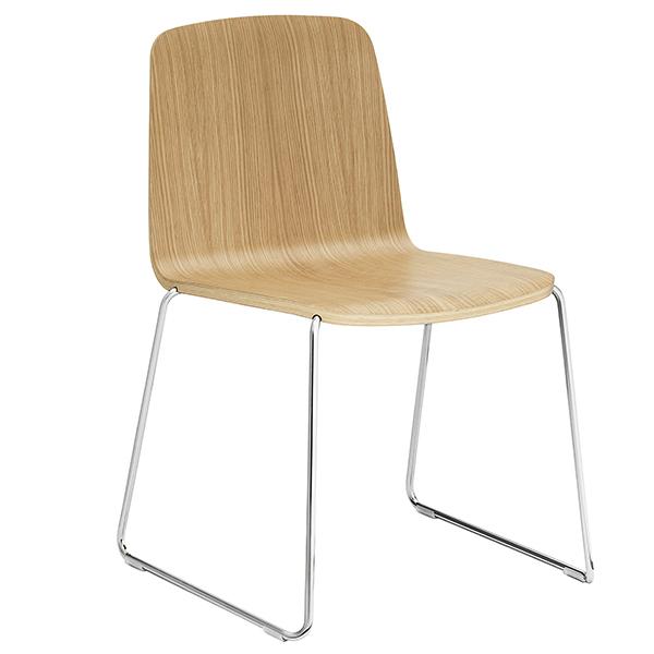 Normann Copenhagen Just Chair, oak - chrome