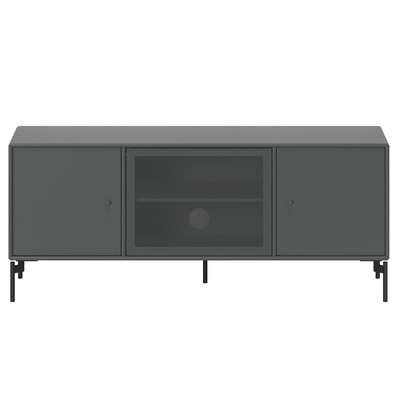 Montana Furniture Octave 1 TV&Sound unit, black legs - 04 Antracite