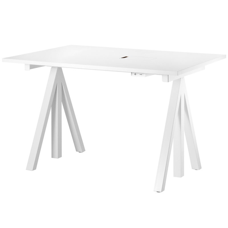 String Furniture String Works height adjustable work desk, 120 cm, white