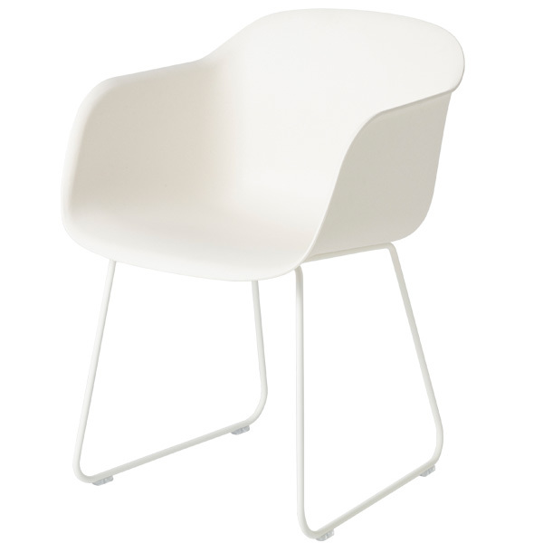 Muuto Fiber armchair, sled base, white