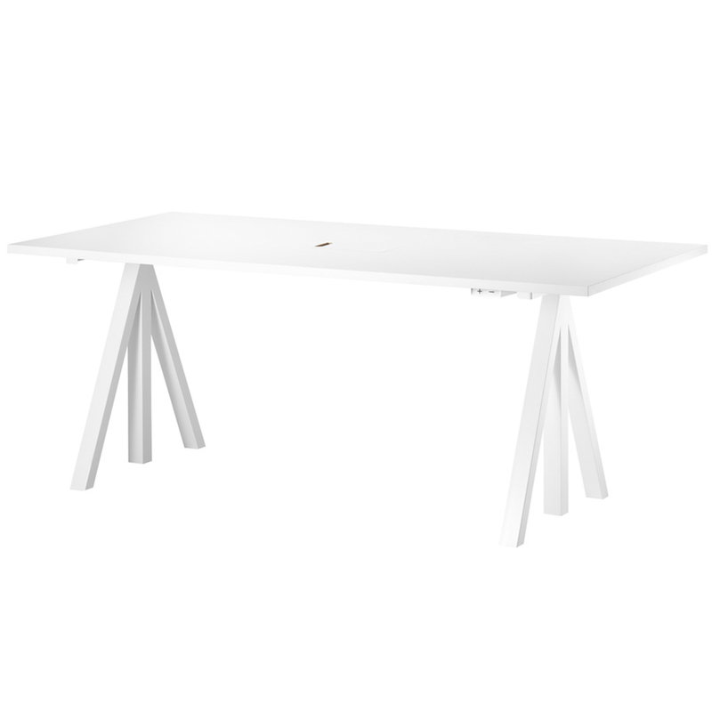String Furniture String Works height adjustable work desk, 180 cm, white