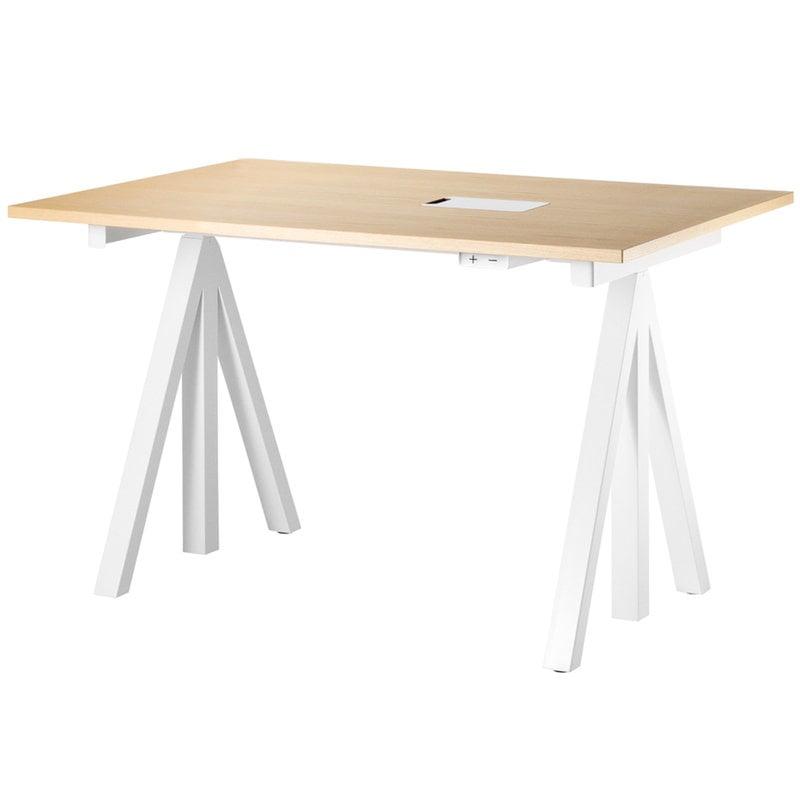 String Furniture String Works height adjustable work desk, 120 cm, ash
