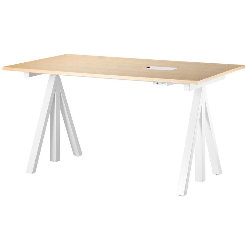 String Furniture String Works korkeussäädettävä pöytä 140 cm, saarni