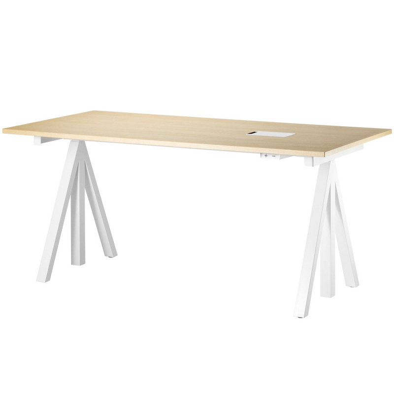 String Furniture String Works height adjustable table 160 cm, ash