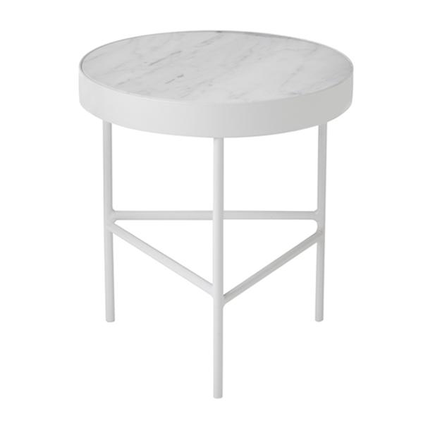 Ferm Living Marble table, medium, white